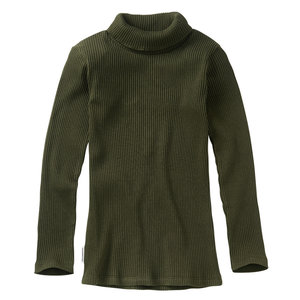 Mingo Mingo | Rib Turtle Neck | Forest Night | Groene coltrui