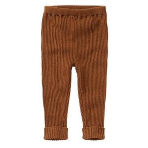 Mingo Mingo | Knit Baby Pants Pecan | Bruin gebreid broekje