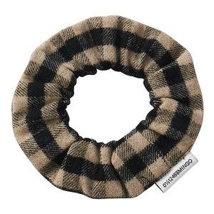 Mingo Mingo | Flannel Checked Scrunchie | Caramel Black