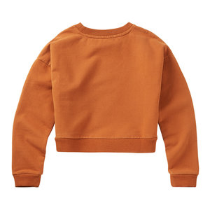 Mingo Mingo | Cropped Sweater Dark Ginger | Oranje cropped sweater