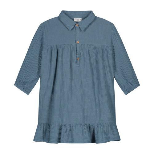 Daily Brat Daily Brat | Lilyan dress | Oversized jurk Forest Blue