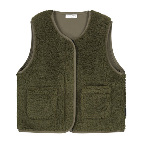 Daily Brat Daily Brat | Teddy Vest | Forest Green