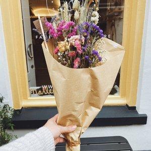Overig Wild Flowers | Droogbloemen Veldboeket M | Pink