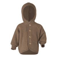 Engel Natur | Hooded Jacket | Baby jasje wol | Walnuss melange