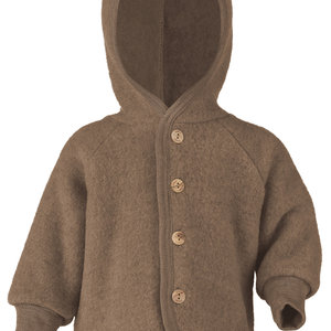 Engel Natur Engel Natur | Hooded Jacket | Baby jasje wol | Walnuss melange