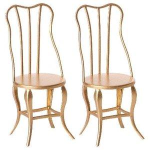Maileg Maileg | Vintage Chair Micro | Gouden stoelen (set van 2)