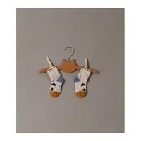 Liewood | Silas cotton socks Panda stripe ecru | 2-pack