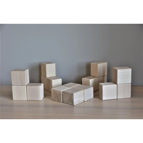 Just Blocks Just Blocks | Wooden blocks baby pack (16 pieces)