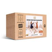 Just Blocks | Wooden blocks medium pack (166 pieces)