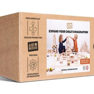 Just Blocks Just Blocks | Wooden blocks medium pack (166 pieces)