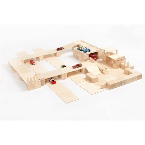 Just Blocks Just Blocks   Wooden blocks medium pack (166 pieces)