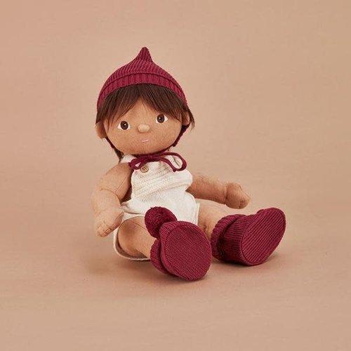 Olli Ella Olli Ella | Dinkum Doll Knit Set | Poppen muts + slofjes