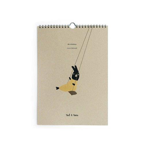 Ted & Tone Ted & Tone | Verjaardags kalender A4