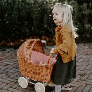 Daily Brat Daily Brat | Nova paperbag Plisse skirt | Dark Olive