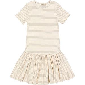 MarMar MarMar | Deanie fine rib dress | Jurk 1232 Hay Stripe