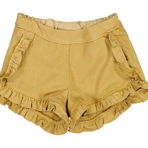 MarMar MarMar | Pytte denim shorts ruffles geel | 0211 Hay