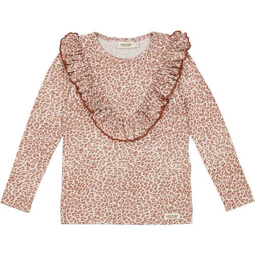 MarMar MarMar | Leo Taren Longsleeve ruffle | Rose brown leopard