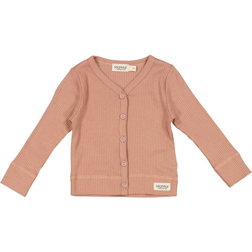MarMar MarMar | Cardigan rib vestje | 0384 Rose Brown