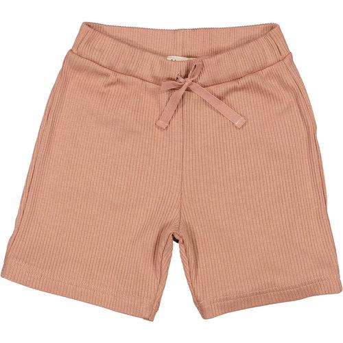 MarMar MarMar | Pants rib korte broek | 0384 Rose Brown