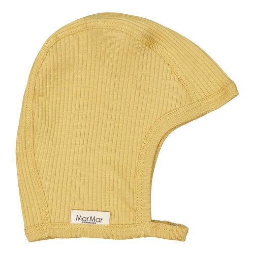 MarMar MarMar | Hoody fine rib bonnet | Mutsje 0211 Hay