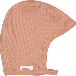 MarMar MarMar | Hoody fine rib bonnet | Mutsje 0384 Rose Brown