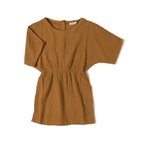 Nixnut Nixnut | Flow Dress | Jurk Caramel