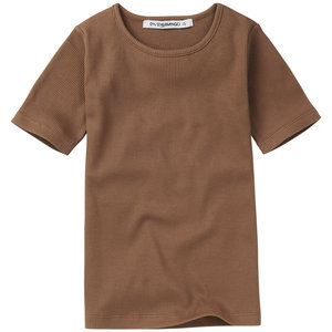 Mingo kids Mingo | Rib top SS | Warm Earth