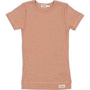 MarMar MarMar | Plain Tee rib t-shirt | 0384 Rose Brown
