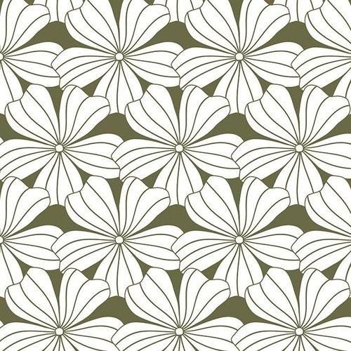Swedish Linens Swedish Linens | Hoeslaken Flowers | Olive Green