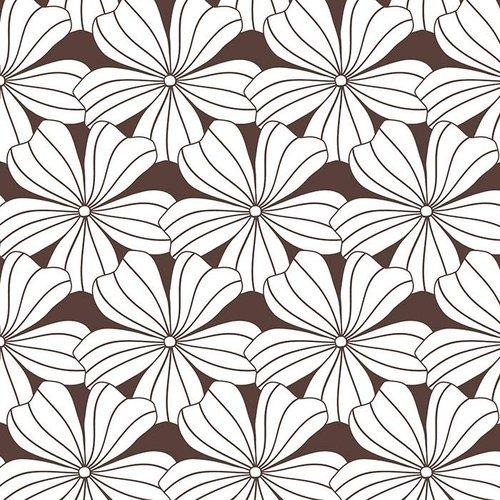 Swedish Linens Swedish Linens | Hoeslaken Flowers | Dark Chocolate