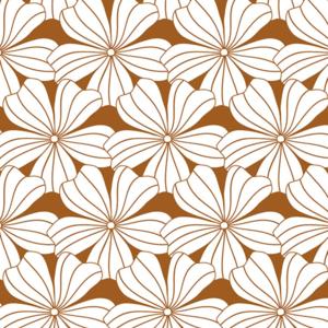 Swedish Linens Swedish Linens | Hoeslaken Flowers | Cinnamon Brown
