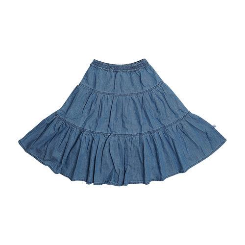 CarlijnQ CarlijnQ | Denim Flared skirt | Rok