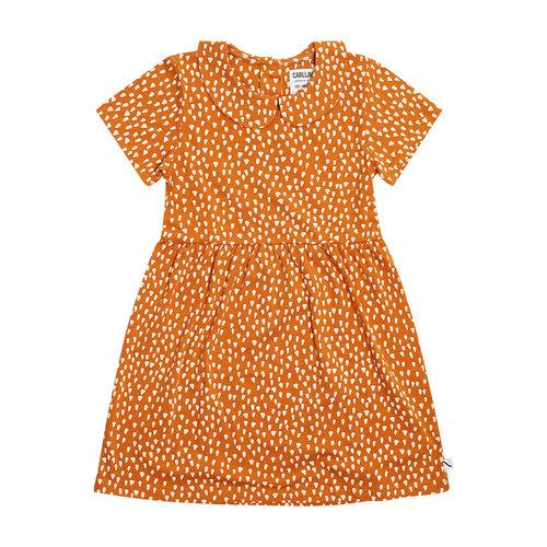 CarlijnQ CarlijnQ | Golden Sparkles Dress | Korte mouw