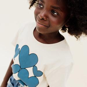 CarlijnQ CarlijnQ | Ecru T-shirt met Hearts print