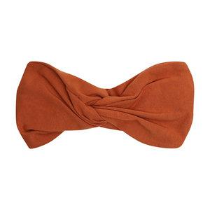 CarlijnQ CarlijnQ | Basics Twisted Headband | Roest bruin