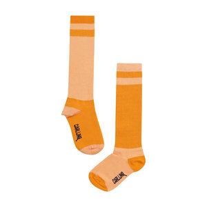 CarlijnQ CarlijnQ | Knee Socks | Contra zalm oranje