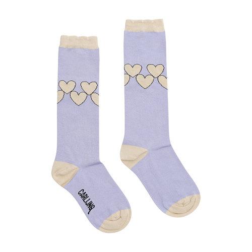 CarlijnQ CarlijnQ | Knee Socks | Lila Hearts