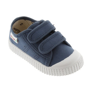 Victoria Victoria | 136606 | Lage Sneakers klittenband | Jeans blauw