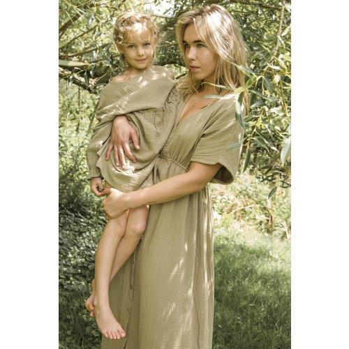 Ammehoela Ammehoela | MomDress.03 | Maxi dress army grey