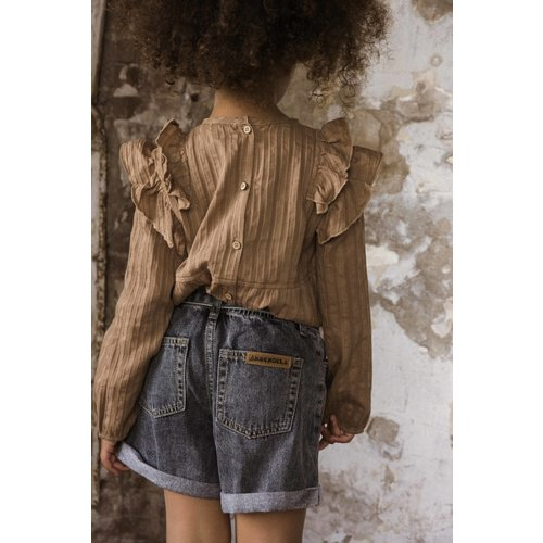 Ammehoela Ammehoela | Jipdnm.01 | Denim shorts black
