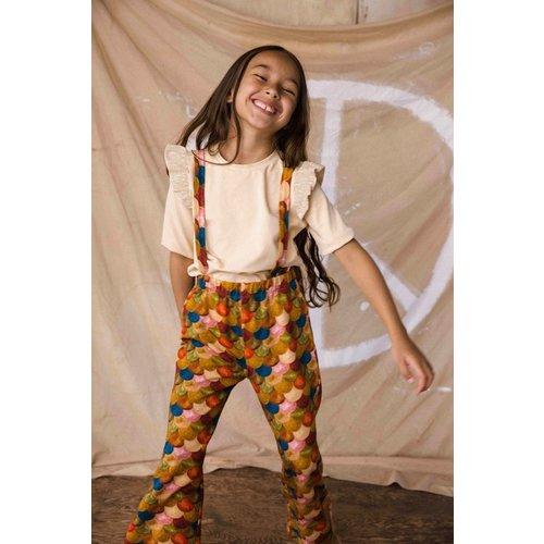 Ammehoela Ammehoela | Sofie.10 | T-shirt pebble met ruffle