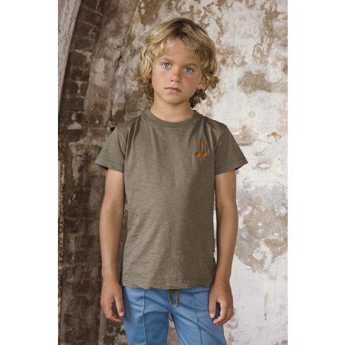 Ammehoela Ammehoela | Zoe.16 | T-shirt antra army donkergrijs