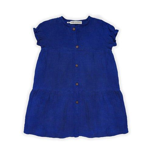 Sproet & Sprout Sproet & Sprout | Dress buttons | Cobalt blue jurk