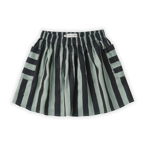 Sproet & Sprout Sproet & Sprout | Skirt Painted Stripe | Eucalyptus rok
