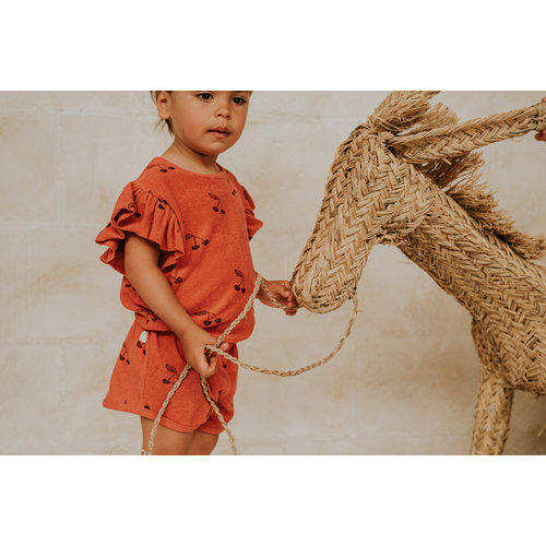 Sproet & Sprout Sproet & Sprout | Jumpsuit Print Cherry Red