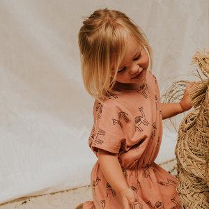 Sproet & Sprout Sproet & Sprout | Skater Dress Print Camel | Rose kameel