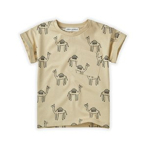 Sproet & Sprout Sproet & Sprout | T-shirt Print Camel | Sesam kameel