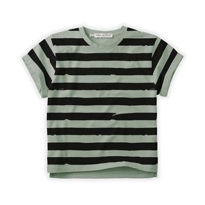 Sproet & Sprout Sproet & Sprout | T-shirt Painted Stripe | Eucalyptus