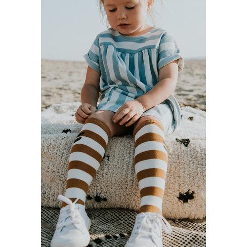 Sproet & Sprout Sproet & Sprout | High Socks Stripe Desert | Kniesokken