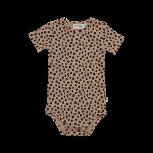 Blossom Kids Blossom Kids | Romper animal dots SS | Warm Sand